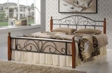 Кровати металлические с деревянными вставками