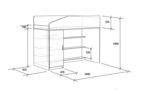 Кровать с угловой лестницей «Легенда 11.5»