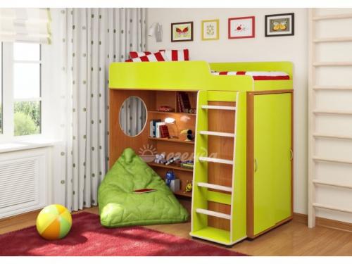 Кровать-чердак со шкафом-купе «Легенда 5.1»