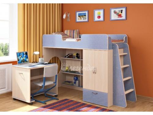 Кровать-чердак со столом для творчества «Легенда 3.2»