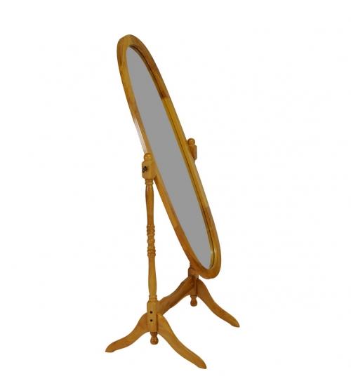 Зеркало овальное дуб