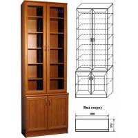 Шкаф для посуды и книг