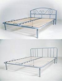 """Кровать с кованым изголовьем """"Леон""""."""