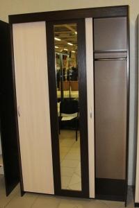 Шкаф-купе с полками и вешалкой ТЛ-1200 (3-х дверный с зеркалом)