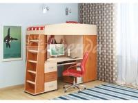 Кровать-чердак со столом «Легенда 1»