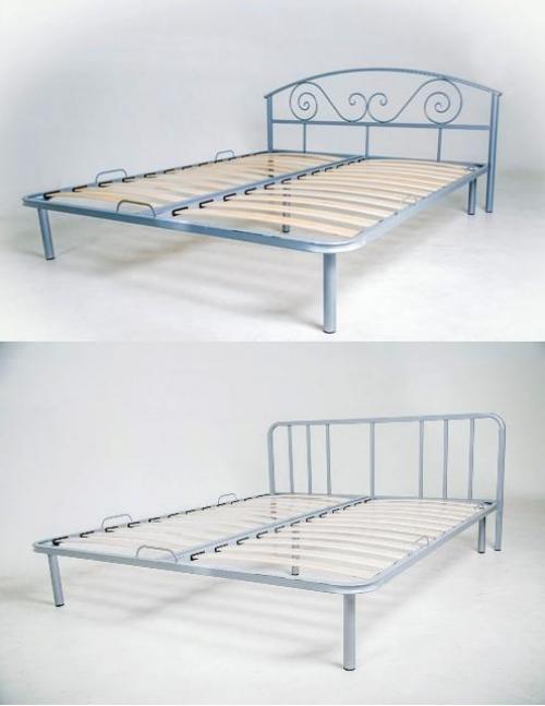"""--Кровать с кованым изголовьем """"Леон""""."""