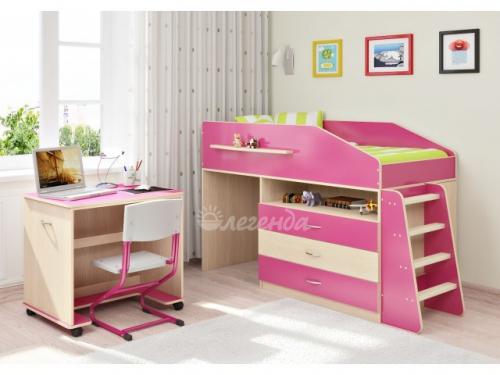 Кровать «Легенда 12.1» с ящиками и столом