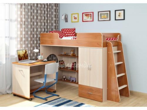 -Кровать-чердак «Легенда 3.2» со столом для творчества.