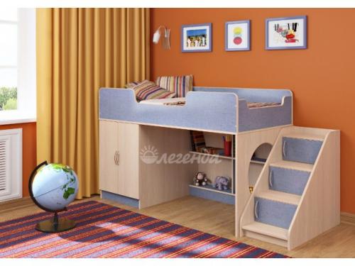 Кровать с угловой лестницей «Легенда 2.4»