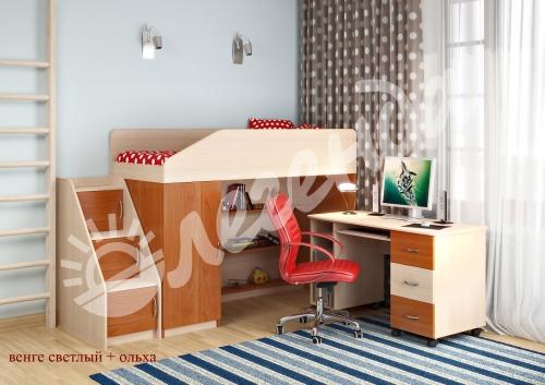 Купить двухъярусную кровать с диваном Москва с доставкой
