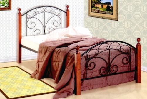 Деревянная двуспальная кровать 1600 х 2000 мм