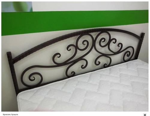 """--Кованая кровать """"Грация""""."""