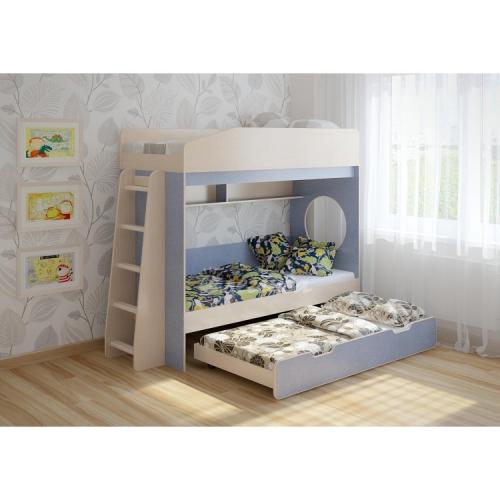 Трехъярусная кровать выдвижная «Легенда 10.4»