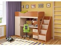 -Кровать-чердак «Легенда 9.3» с угловой лестницей.