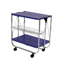Столик сервировочный складной на колесах «синий»