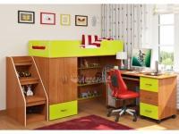-Кровать-чердак «Легенда 3.3» с письменным столом.