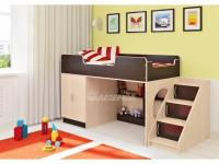 -Кровать «Легенда 2.4» с угловой лесенкой.