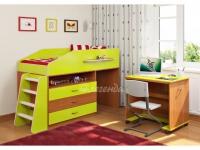 -Кровать «Легенда 12.1» с ящиками и столом.