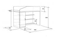 -Кровать с угловой лестницей «Легенда 11.5».
