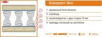 Ортопедический матрас «Контраст-Эко».