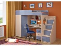 -Кровать-чердак с угловой лестницей  «Легенда 4.3».