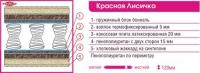 Детский матрас «Красная-Лисичка» 2000x900